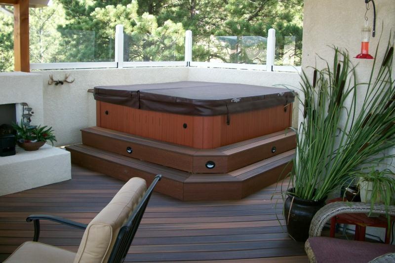 Attrayant Lighting For Deck On Stairs Of Hot Tub By Schmillen