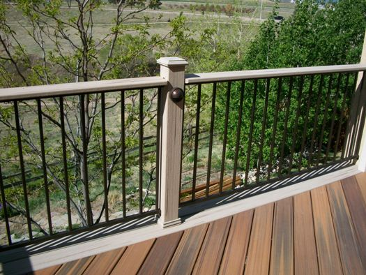 Deck railings colorado springs decks by schmillen for Fortress fence design